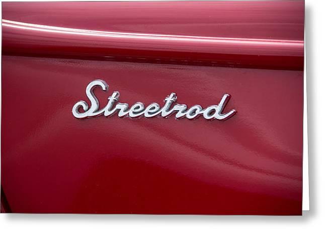 1939 Red Ford Truck Streetrod Emblem Greeting Card by Robert Kinser