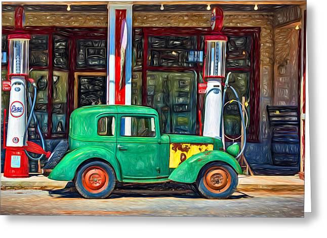 1940 Bantam Coupe 2 - Paint Greeting Card by Steve Harrington