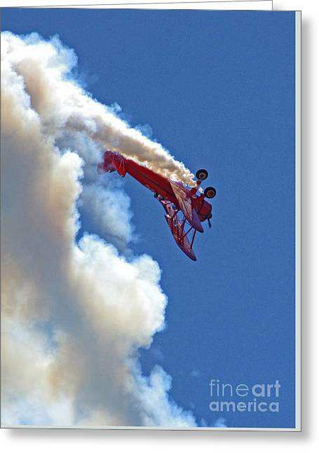 1940 Boeing Stearman Biplane Stunt 2 Greeting Card