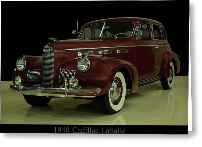 1940 Cadillac Lasalle Greeting Card