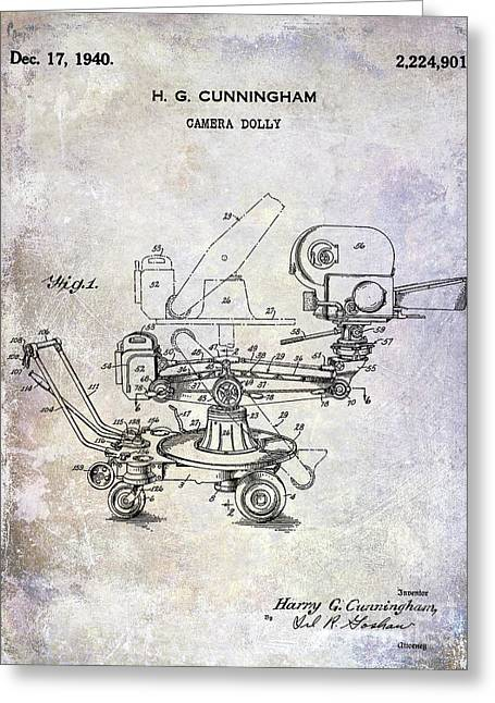 1940 Camera Dolly Patent Greeting Card