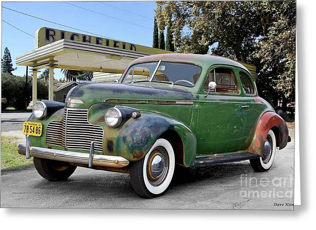 1940 Chevrolet Master Deluxe Coupe I Greeting Card