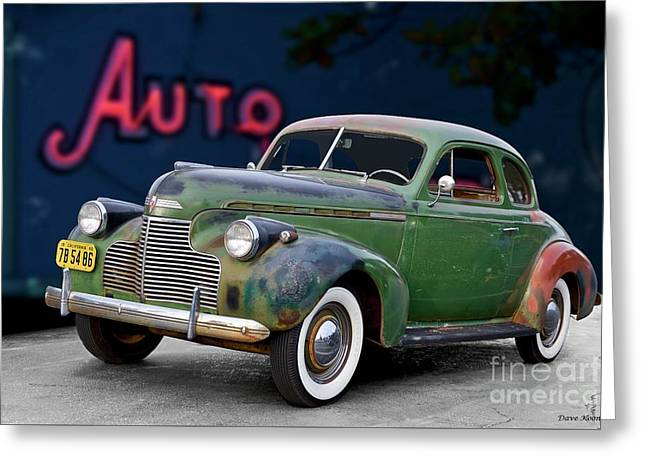 1940 Chevrolet Master Deluxe Coupe II Greeting Card