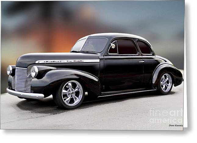 1940 Chevrolet Special Deluxe Coupe I Greeting Card by Dave Koontz