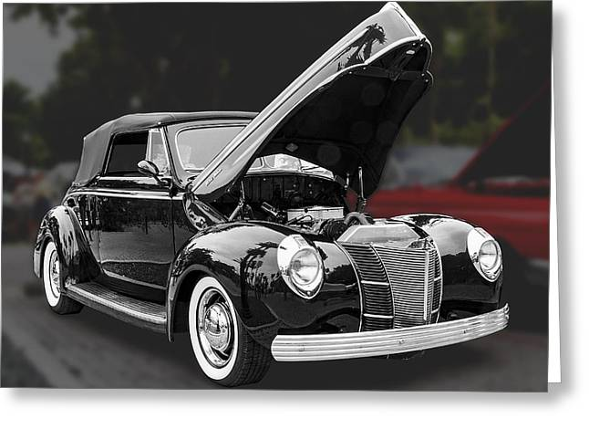 1940 Ford Deluxe Automobile Greeting Card by Bob Slitzan