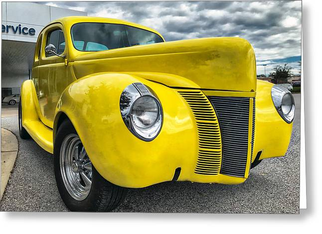 Greeting Card featuring the photograph 1940 Ford Deluxe Coupe by Mark Guinn