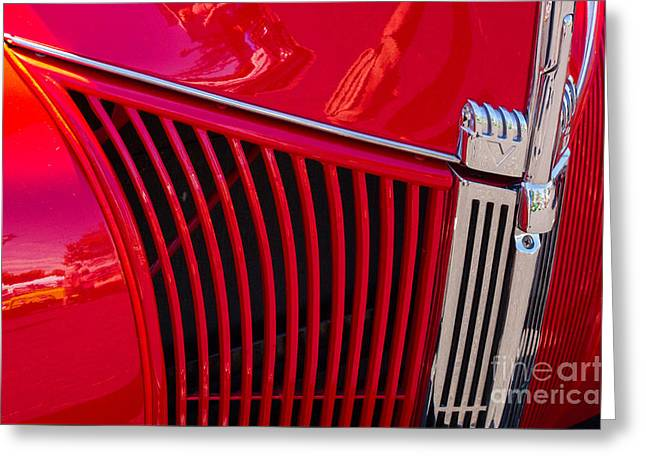 1940 Ford Pickup Grill Greeting Card