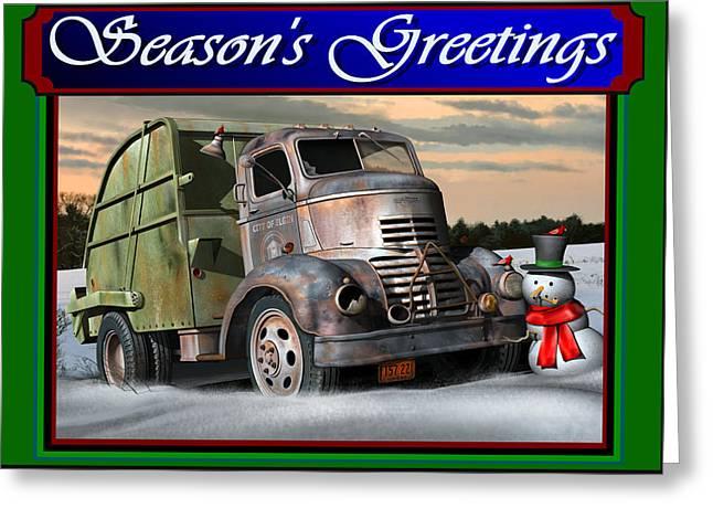 1940 Gmc Christmas Card Greeting Card by Stuart Swartz