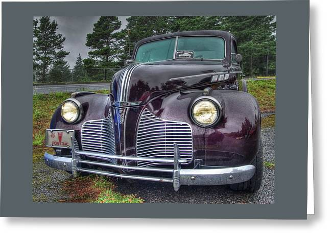 1940 Pontiac Coupe In The Rain Greeting Card by Thom Zehrfeld