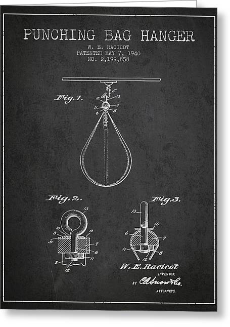 1940 Punching Bag Hanger Patent Spbx13_cg Greeting Card