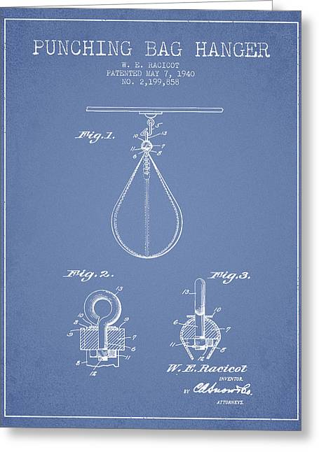 1940 Punching Bag Hanger Patent Spbx13_lb Greeting Card