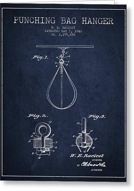 1940 Punching Bag Hanger Patent Spbx13_nb Greeting Card by Aged Pixel