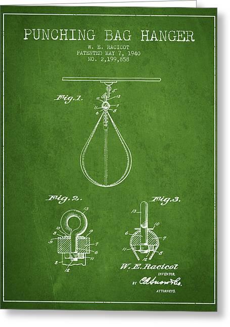 1940 Punching Bag Hanger Patent Spbx13_pg Greeting Card by Aged Pixel