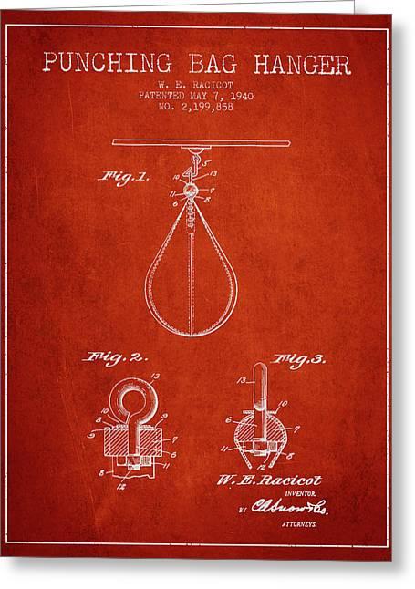 1940 Punching Bag Hanger Patent Spbx13_vr Greeting Card by Aged Pixel