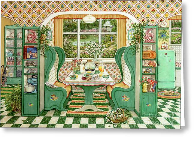 1940s Breakfast Nook Greeting Card
