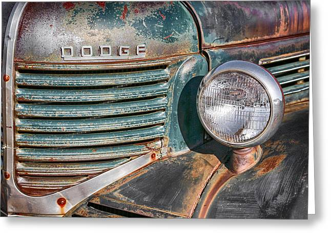 1940s Dodge Truck Front Grill And Headlight Greeting Card