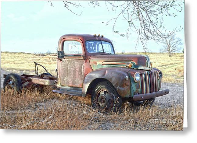1940s Ford Farm Truck Greeting Card