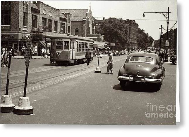 1940's Inwood Trolley Greeting Card