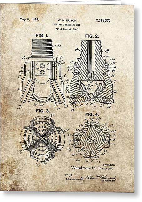 1940s Oil Drill Bit Patent Greeting Card