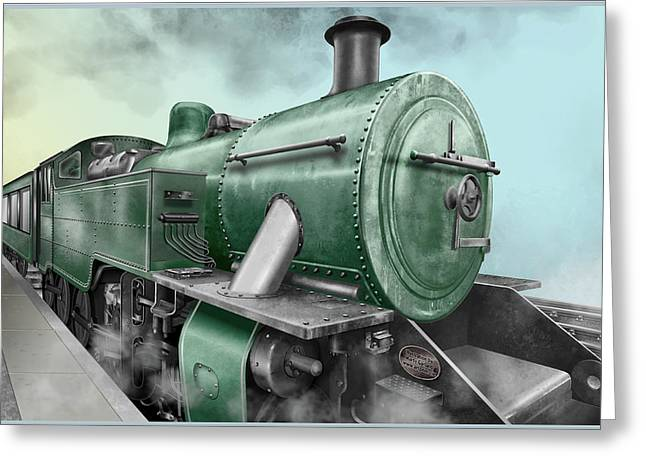 1940's Steam Train Greeting Card