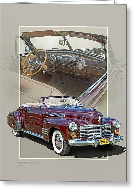 1941 Cadillac 62 Convertible Coupe Greeting Card
