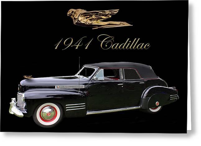 1941 Cadillac Series 62 Convertible Sedan Greeting Card by Jack Pumphrey