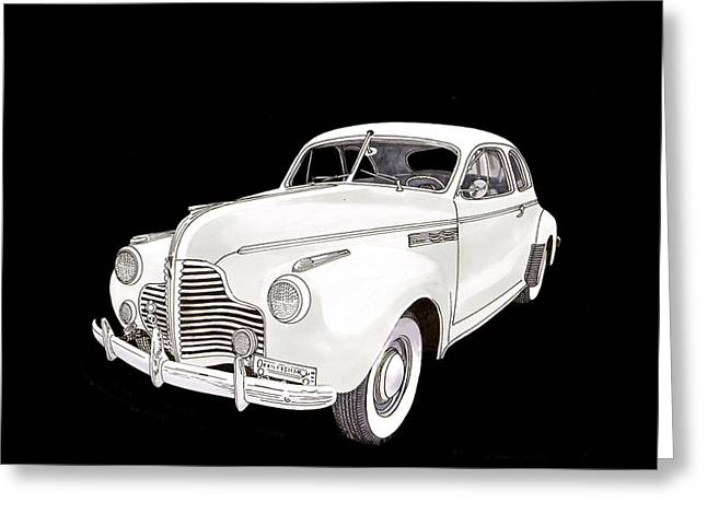 1941 Chevrolet Master Deluxe Coupe Greeting Card