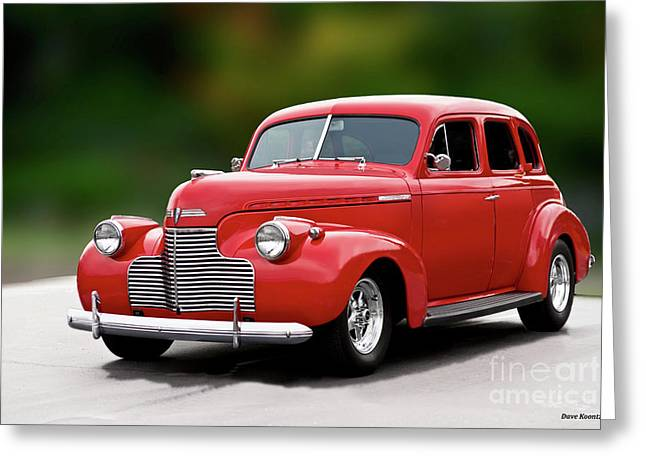 1941 Chevrolet Master Deluxe Sedan I Greeting Card by Dave Koontz