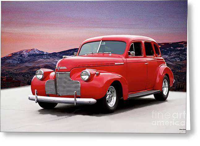 1941 Chevrolet Master Deluxe Sedan II Greeting Card by Dave Koontz