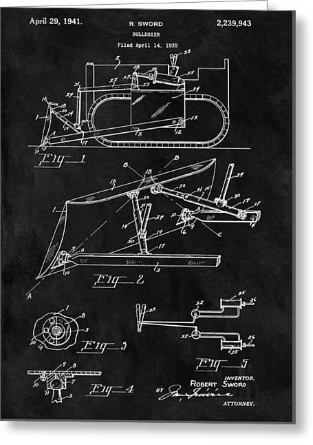 1941 Construction Bulldozer Greeting Card