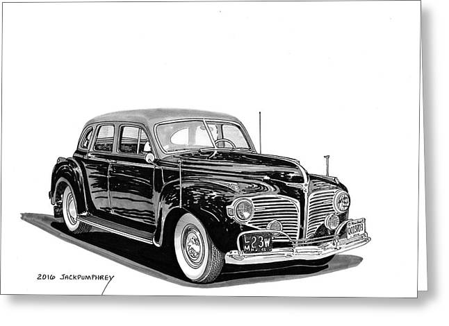 1941 Dodge Town Sedan Greeting Card by Jack Pumphrey