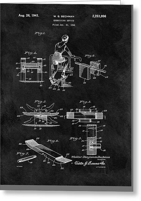1941 Exercising Apparatus Patent Greeting Card by Dan Sproul