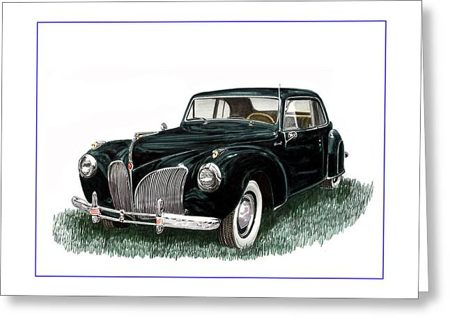 Car Framed Prints Greeting Cards - 1941 Lincoln Continental MK 1 Greeting Card by Jack Pumphrey