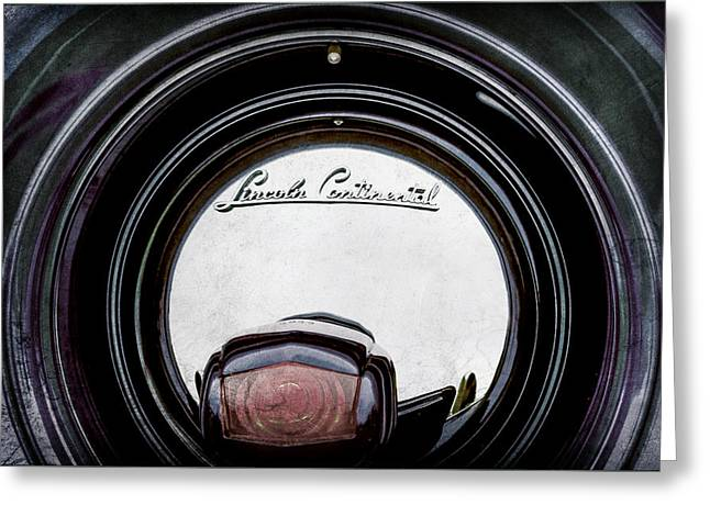 1941 Lincoln Continental Spare Tire Emblem - 1963ac Greeting Card by Jill Reger