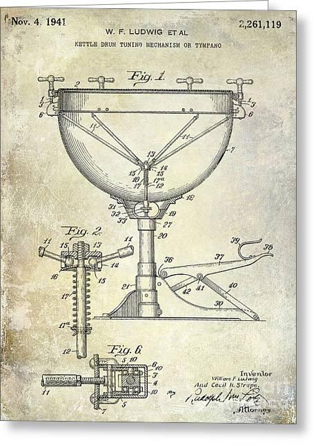 1941 Ludwig Drum Patent  Greeting Card