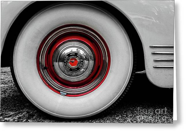 1941 Packard Convertible Wheels Greeting Card
