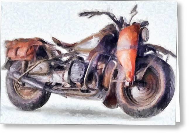1942 Harley Davidson, Military, 750cc Greeting Card