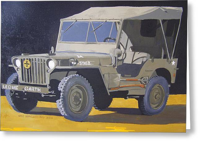 1942 Us Army Willys Jeep Greeting Card