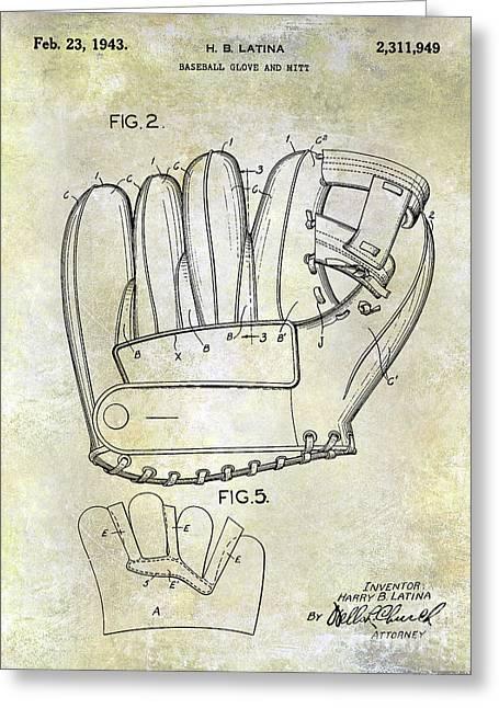 1943 Baseball Glove Patent Greeting Card