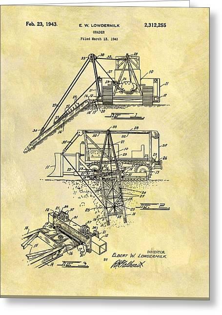 1943 Grader Patent Greeting Card