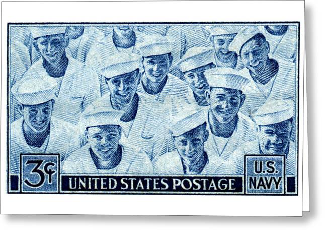 1945 Us Navy Issue Stamp Greeting Card