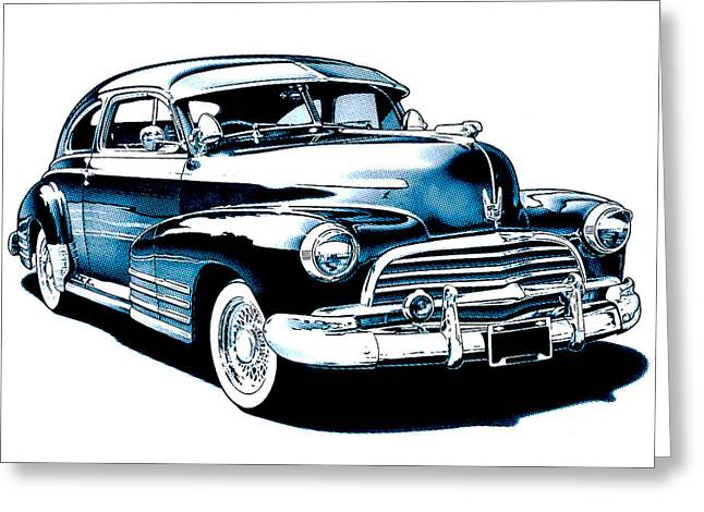 1946 Chevy Fleetline Greeting Card by Little Bunny Sunshine