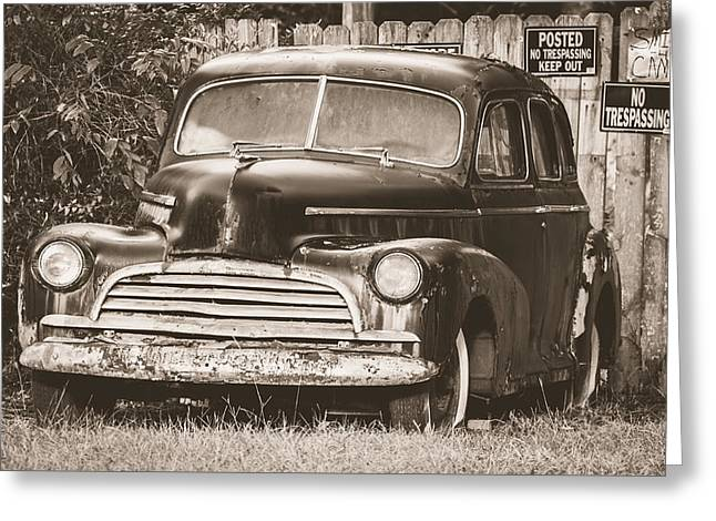 1946 Chevy Fleetmaster Greeting Card by Alicia Collins