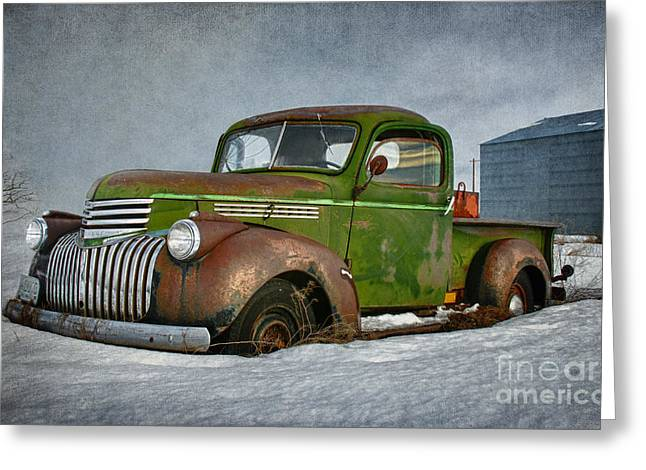 1946 Chevy Truck Greeting Card by Beve Brown-Clark Photography