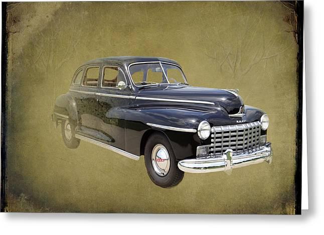 1946 Dodge D24c Sedan Greeting Card