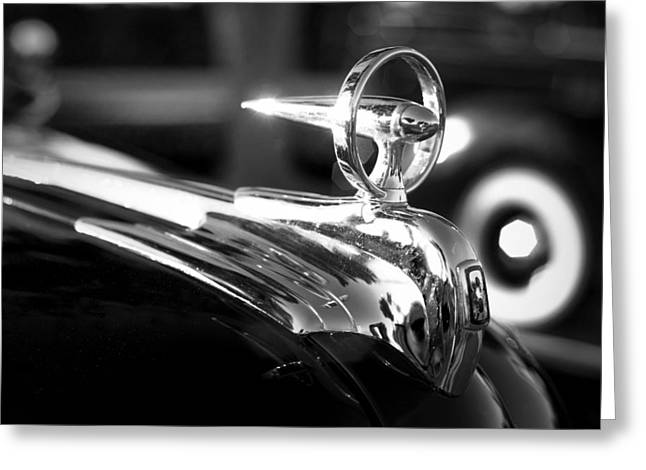 1946 Ford V8 Hood Ornament Greeting Card
