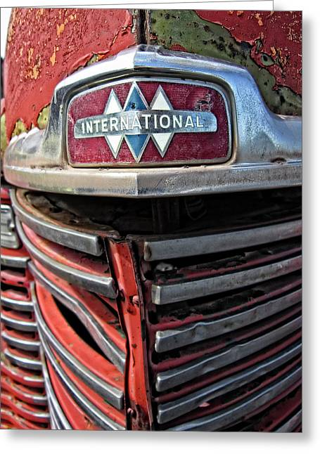 1946 International Harvester Truck Grill Greeting Card by Daniel Hagerman