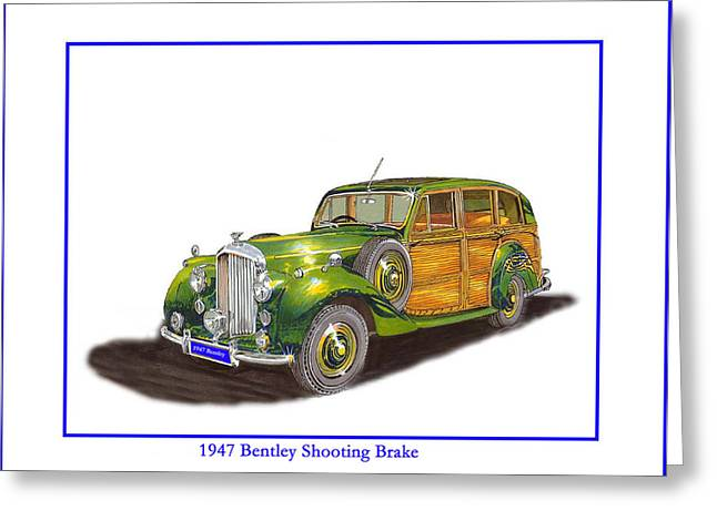 British Station Wagon 1947 Bentley Shooting Brake Greeting Card