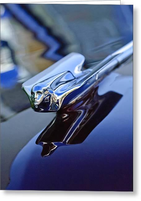 1947 Cadillac 62 Convertible Hood Ornament Greeting Card