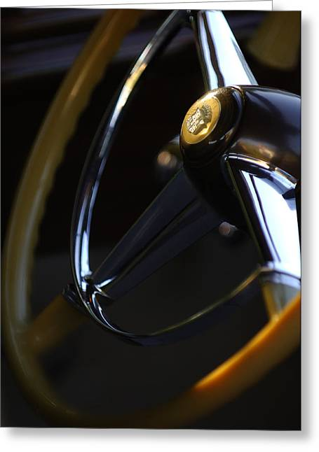 1947 Cadillac Model 62 Coupe Steering Wheel Greeting Card